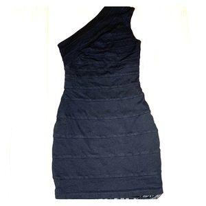 Express Black One Shoulder Bandage Cocktail Dress
